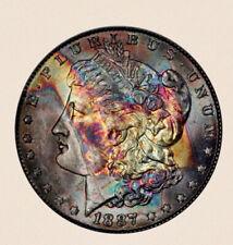 1887 Morgan Dollar PCGS MS64 Rainbow Toned 887