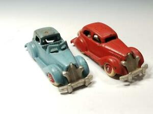 1935 Scarce 2 HUBLEY Ford BREWSTER TOWN CAR & COUPE Nickel Grills-ALL ORIGINAL