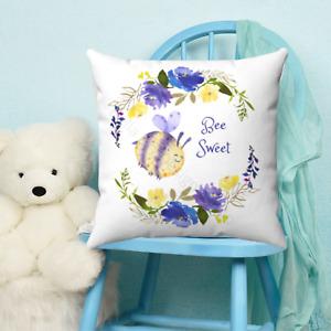 Bee Sweet Quote Childrens Throw Pillow - Nursery Room - Kids Bedroom Decor -Gift