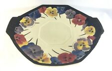 Royal Doulton Art Deco Pansy Cake Plate Hand Painted D4049