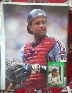 Sandy Alomar Jr. Hand Signed Beckett Magazine Cleveland Indians