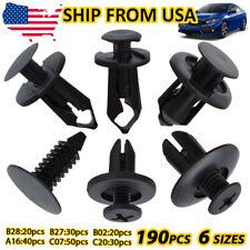 XUKEY 190pcs Car Body Push Pin Rivet Trim Panel Fastener Clip Moulding Kit