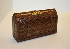 Thai Wicker Hand crafted Vintage Gold Plated Purse Wallet