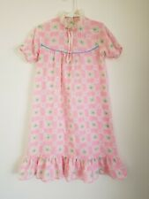 Vintage 70's Floral Nightgown Girls Size M Sears Made in USA