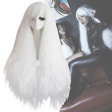 Griffith Cosplay Wigs Gothic Rhapsody Wig White Curly Wave Wavy Long Hair Punk