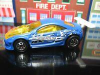 SATIN sp7 RIM BLUE CUSTOM COUGAR RACING LOOSE HOT WHEELS 1/64 DIECAST CAR