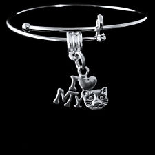 Cat bangle  cat charm bracelet  best cat Jewelry gift