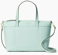 NWT Kate Spade Patrice Satchel Aquamarine Leather Crossbody Bag WKRU6669 $359
