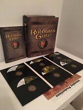BALDUR'S GATE : Original Bioware 1998 PC Game Big Box COMPLETE