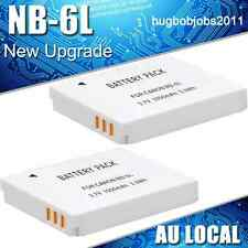 2X NB-6L Battery For Canon PowerShot D10 D20 ELPH 500 HS S120 S90 S95 IXUS IXY