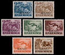 ✔️ INDONESIA 1958 - FAUNA RIAU SMALL OVERPRINT - ZBL. 26/32 ** MNH OG  [IDR026.]