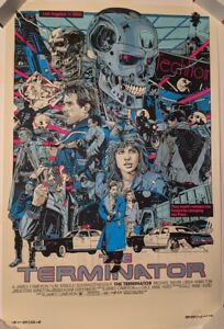 The Terminator Screen print Tyler Stout 2020 Regular Edition Signed Numbered