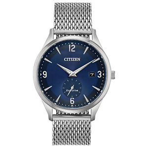 Citizen Eco-Drive Men's Date Display Blue Date Indicator 40mm Watch BV1110-51L