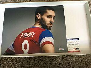 Clint Dempsey Signed Team USA U.S.A 11x14 Photo PSA DNA COA Autographed b