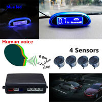 Human Voice Car Parking Sensor System  +4 Sensor LED Display Reverse Radar Alarm