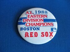 1988 Boston Red Sox Al Eastern Division Champions Pin Pinback East Champs  00004000 A.L.