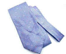 Chanel Men's Blue Lavender Mini CC Silk Tie