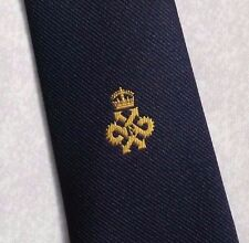RETRO NECKTIE QUEEN'S AWARD EXPORT LOGO TIE VINTAGE CLUB ASSOCIATION 1980s NAVY