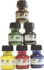 Zeichentusche SET Tuschen Kalligraphie 6farben gelb blau rot grün schwarz braun