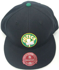 NBA Boston Celtics Mitchell and Ness Green Brim Cap Hat Snap-Back M&N NEW!