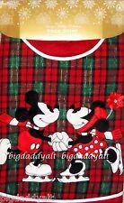 New Disney World Parks Mickey & Minnie Mouse Plaid Christmas Holiday Tree Skirt