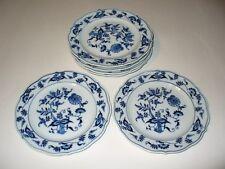 """Japan BLUE DANUBE 6 3/4"""" Bread Plate Lot of 6 blue onion"""