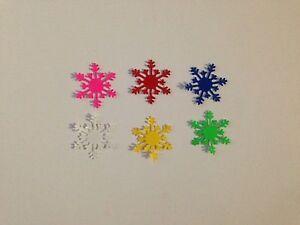 102x Martha Stewart snowflakes punch punchies/die cut pieces - 6 colors.