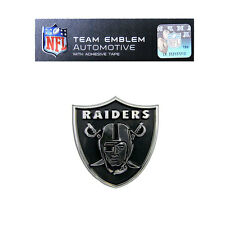 Promark New NFL Oakland Raiders Plastic Chrome 3-D Auto Emblem Sticker Decal