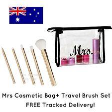 Mrs Cosmetic Bag + Travel Brush Set