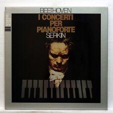 RUDOLF SERKIN - BEETHOVEN piano concertos nos.1-5 MOVIMENTO MUSICA 4xLPs box NM