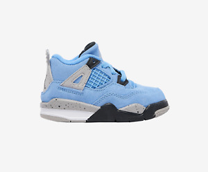 Nike Air Jordan Retro 4 IV University Blue UNC Grey White Black Toddler TD Size
