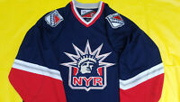 New York Rangers Jersey mens large blue lady liberty pro player proplayer NHL L