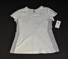 New K-Swiss White Grey Trim Cap Sleeve V-Neck Tee Top Casual Sports Small GD31