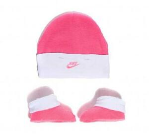 Infant Nike Pink/White Hat & Bootie Set (NCA1) RRP £11.99