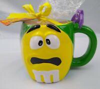 M&M M&M's Coffee Mug Yellow Green Ceramic Halloween Bat Galerie