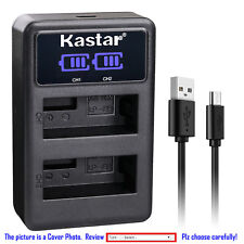 Kastar Battery LCD Dual Charger for Canon LP-E8 LC-E8 & Canon EOS Kiss X5 Camera