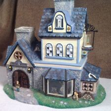 "Olde World Village PartyLite ""Candle Shoppe"" W/Interior Scene Tea Light Holder"