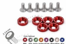 6x SKUNK2 ANODIZED HONDA M8x2.0 BOLT SCREW Bolt WASHER Jdm 8mm ENGINE TYPE R