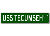 USS TECUMSEH SSBN 628 Ship Navy Sailor Metal Street Sign - Aluminum