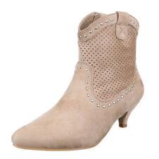Damenschuhe mit kleinem Trichter-Absatz-Cowboystiefel 36 Größe