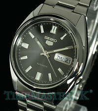Seiko 5 Men's Automatic Dark Grey Face Day and Date SNXS79K1 SNXS79