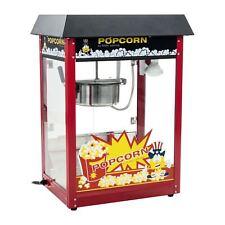 Retro Popcornmaschine Popcornmaker Popcornautomat 1600W 5kg/h Dach Schwarz