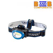 DRAPER 65967 3W COB LED HEAD TORCH BLUE BATTERIES INCLUDED A1709