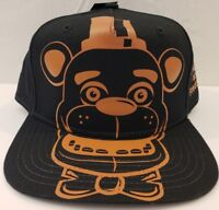 NWT Five Nights At Freddy's Snapback Baseball Hat Cap Youth Brown OSFM Adjust