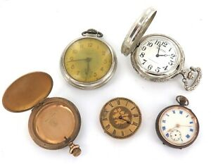 POCKET WATCHES, GOLD PLATED POCKET WATCH CASE, 1800s MOVEMENT.