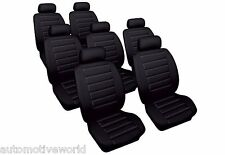 Car Seat Covers Set for Toyota Previa 2000 - 2005 Black Leatherlook Cosmos 66653