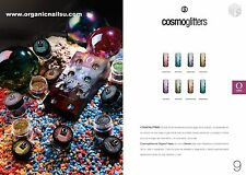 """COSMOGLITTERS COLLECTION """"NEW ARRIVAL ORGANIC NAILS"""" 8 frascos 7 gra ea frasco"""