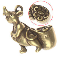 Solid Brass Figurine Of Mouse Rat Accessories Pendant Statue Mini Home Decor 3C