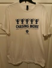 Los Angeles LA Galaxy Chasing More Cups 2019 MLS Playoffs T Shirt Size Large SGA