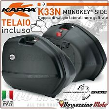 KIT VALISES LATERALES KAPPA K33 + SUPPORT KLXR5117 BMW R 1200 RS 2015-2016